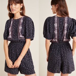 NEW Anthropologie Sandy Printed Romper